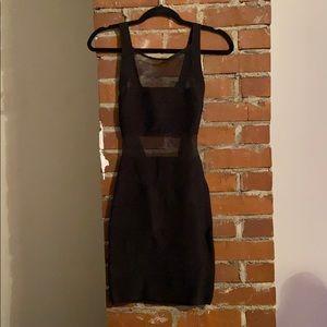 Bebe Sheer Cut-out Dress